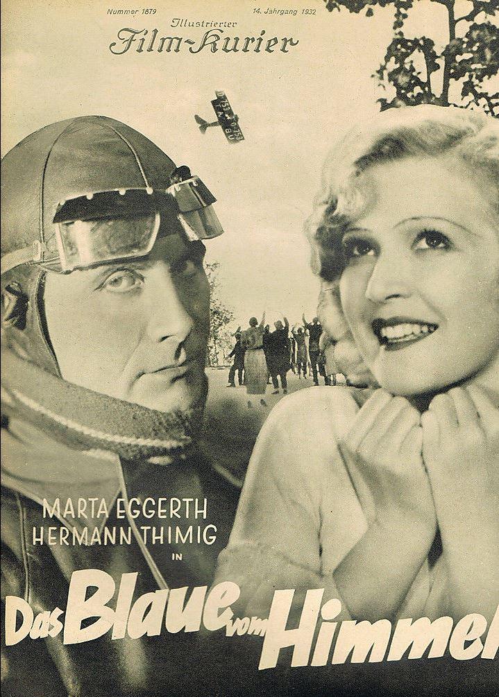 RAREFILMSANDMORE.COM. DAS BLAUE VOM HIMMEL (1932)