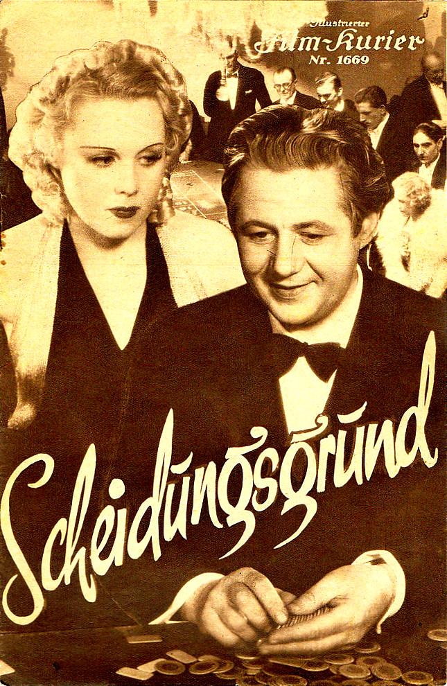 RAREFILMSANDMORE.COM. DER SCHEIDUNGSGRUND (1937)