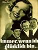 Picture of IMMER WENN ICH GLÜCKLICH BIN  (1938)