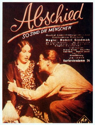 Picture of ABSCHIED  (1930)  * with hard-encoded French and switchable English subtitles  *