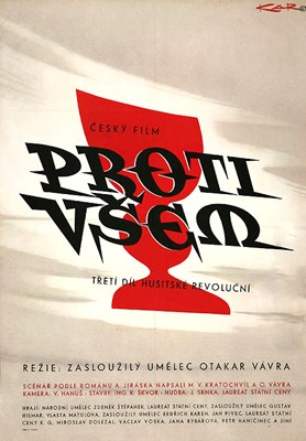 Picture of PROTI VSEM - (3rd Part of Hussite Trilogy)  (1958)  * with hard-encoded English subtitles *