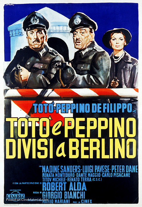 RAREFILMSANDMORE.COM. TOTO AND PEPPINO DIVIDED IN BERLIN (1962 ...